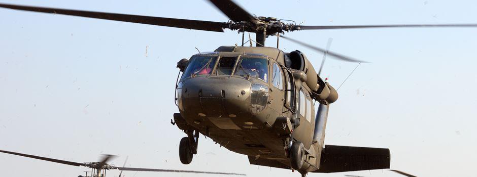 Warum auf der Erbenheimer Airbase aktuell so viele Hubschrauber starten