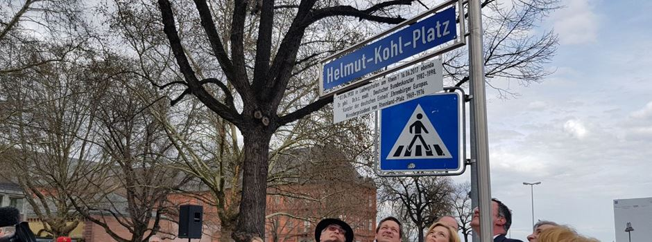 Helmut-Kohl-Platz in Mainz eingeweiht