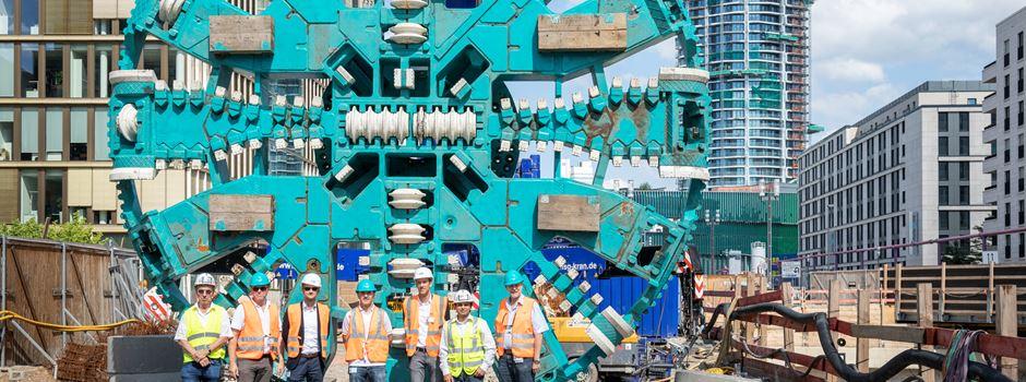 Tunnelbohrer wird auf Einsatz vorbereitet