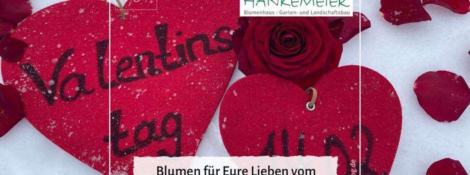 Anzeige: Valentinstagsgrüße vom Blumenhaus Hankemeier
