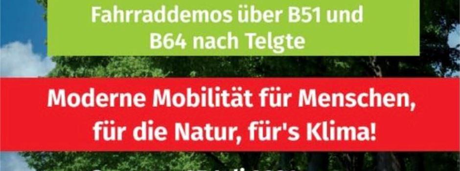 Tour de Natur - Radelt mit auf der B51 und B64 für ein nachhaltiges Mobilitätskonzept für Menschen, Natur und Klima
