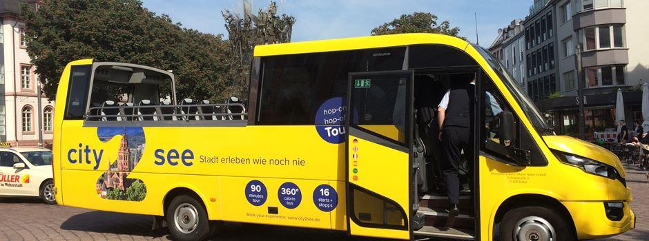 Keine Cabrio-Busrundfahrten mehr in Mainz