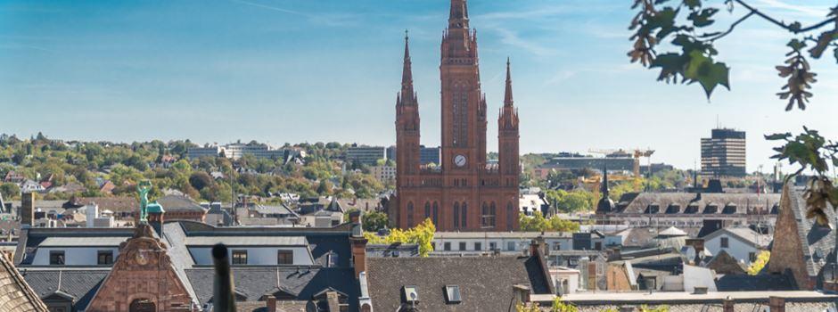 So dicht besiedelt ist Wiesbaden