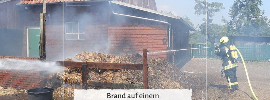 Brand auf einem landwirtschaftlichen Anwesen