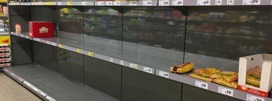 Wie Supermärkte in Wiesbaden auf Hamsterkäufe reagieren