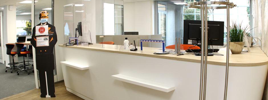 Mondorf: Umbauarbeiten des VR-Bank Regionalcenters