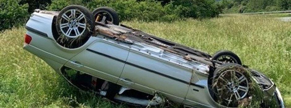 23-Jähriger überschlägt sich mit Pkw in Autobahnauffahrt