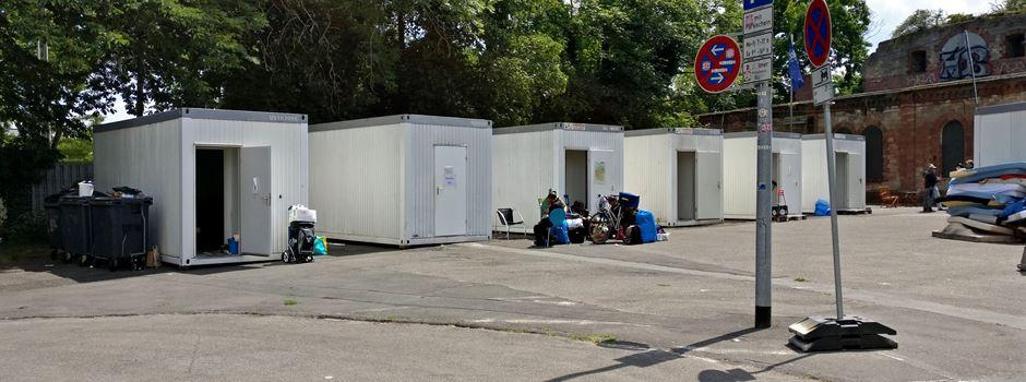 Schlaf-Container für Obdachlose: Demo gegen Schließung am Fort Hauptstein
