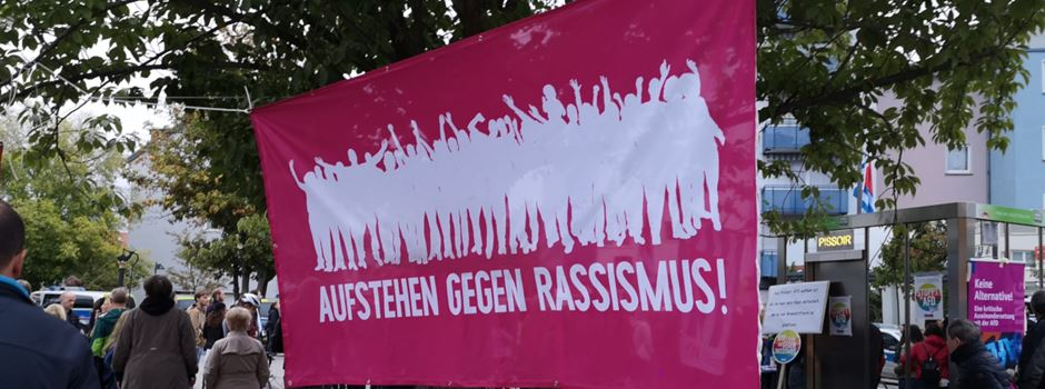 Protest gegen AfD in Oberrad