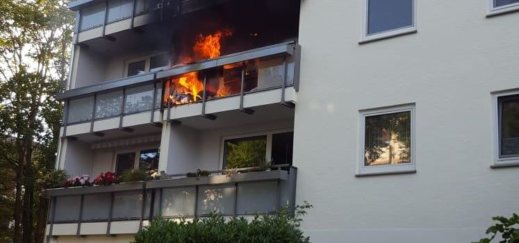 Wohnungsbrand in Weisenau