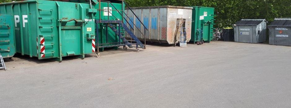 Recyclinghof Herzebrock-Clarholz nur nach online Terminvereinbarung geöffnet