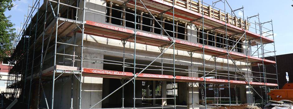 Baustelle an Mondorfer OGS: Mensa nimmt Gestalt an