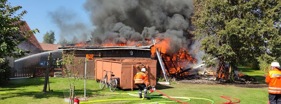 Großbrand: Rund 120 Einsatzkräfte bekämpften die Flammen
