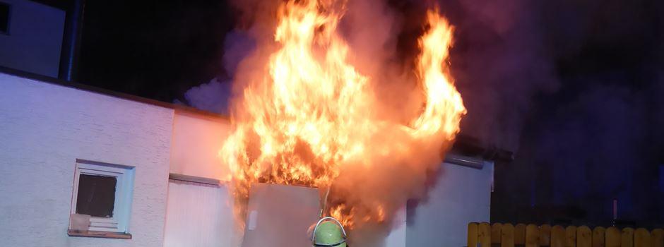 Feuer zerstört Restaurant in Mainz