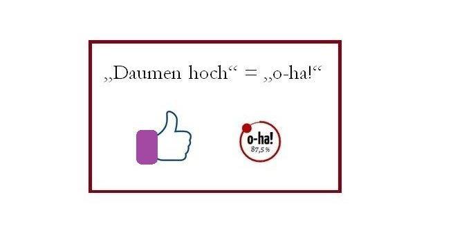 """Bei f***b**k der Daumen - bei StadtLandWein der """"o-ha!""""-Button"""