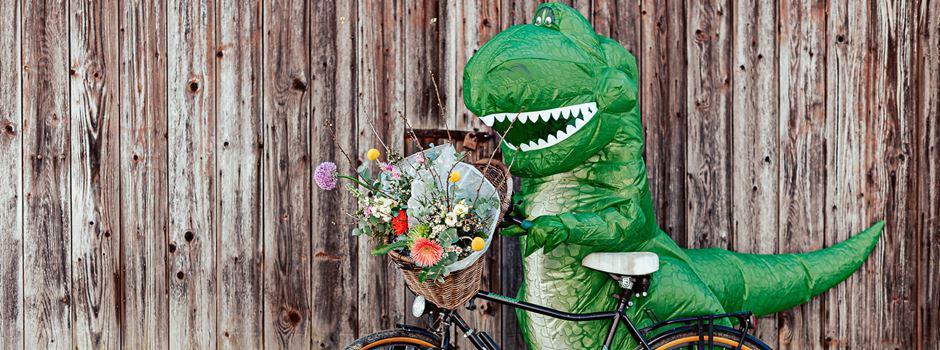 Mainzer überrascht Corona-Helden im Dino-Kostüm